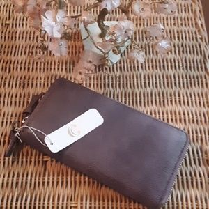 NWT CHARMING CHARLIE PURPLE FULL SIZE WALLET
